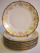 "Weimar Porcelain ""Katharina"" 7.5"" Luncheon/ Dessert Plate White Gold Encrusted"