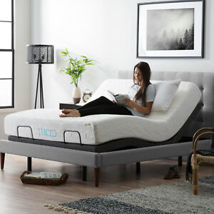Lucid Adjustable Bed Base With Motorized Head Foot Incline And Remote Control Ebay