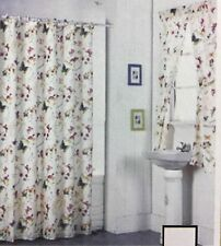 New Shower Curtain Butterfly design with window curtain Set Liner 12 pc Rings