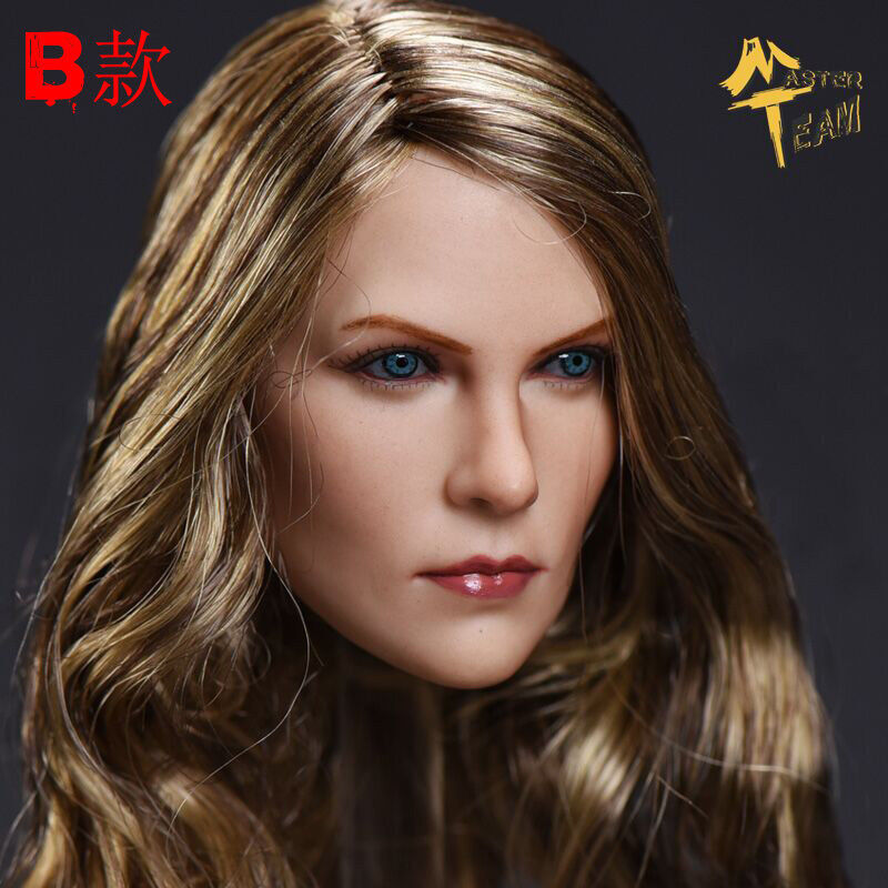 1 6 Scale 12'' Female Head Sculpt Charlize Theron Carving Curly F 12  Figure