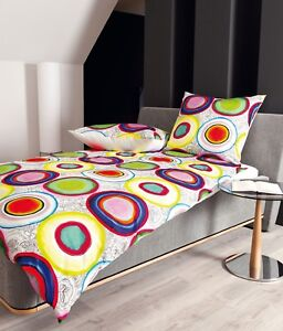 Janine Bettwäsche Modern Art 42015 09 Multicolor Bunt Kreise Mako