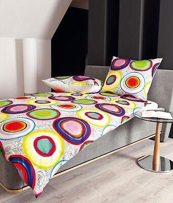 Bettwäsche Gerade Janine Bettwäsche Modern Art 42015 09 Multicolor Bunt Kreise Mako Satin In Vielen Stilen