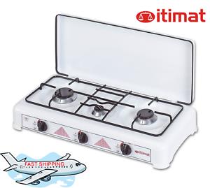 3 Quemadores cocina de gas LPG con cubierta I-16 2012, parrillas de Utensilios de Cocina Esmalte-ITIMAT -