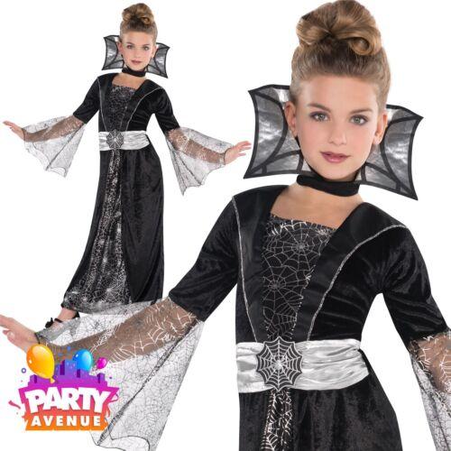 Girls Dark Countess Costume  4-6yrs Spider Vampire Witch Halloween Costume