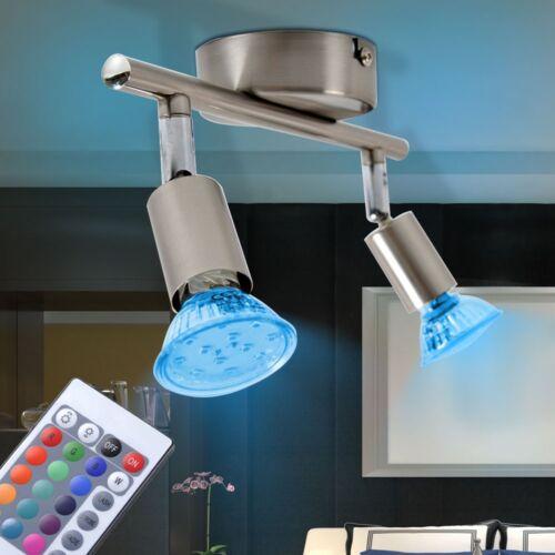 RGB LED Decken Strahler verstellbar Esszimmer Lampe Fernbedienung bunt dimmbar