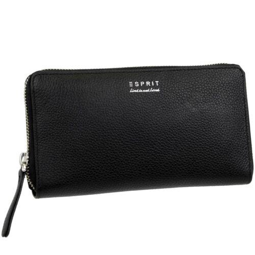 ESPRIT Damen Geldbörse Metall Reißverschluss Brieftasche Geldbeutel Portemonnaie