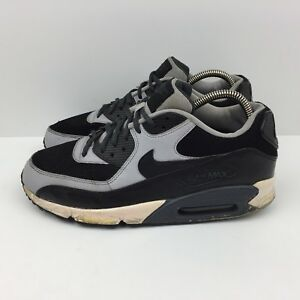 new styles c1568 e7bf8 Details about Nike Air Max 90 Black Running Shoes Wolf Gray Sneakers  537384-053 Men's Size 9