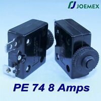 Joemex Pe74 Series 8a Thermal Overload Circuit Breaker 125vac 50vdc
