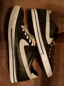 Nike Sweet Classic Men s Black gray Leather sneakers Size 13 Eur ... 3eccb8ed1
