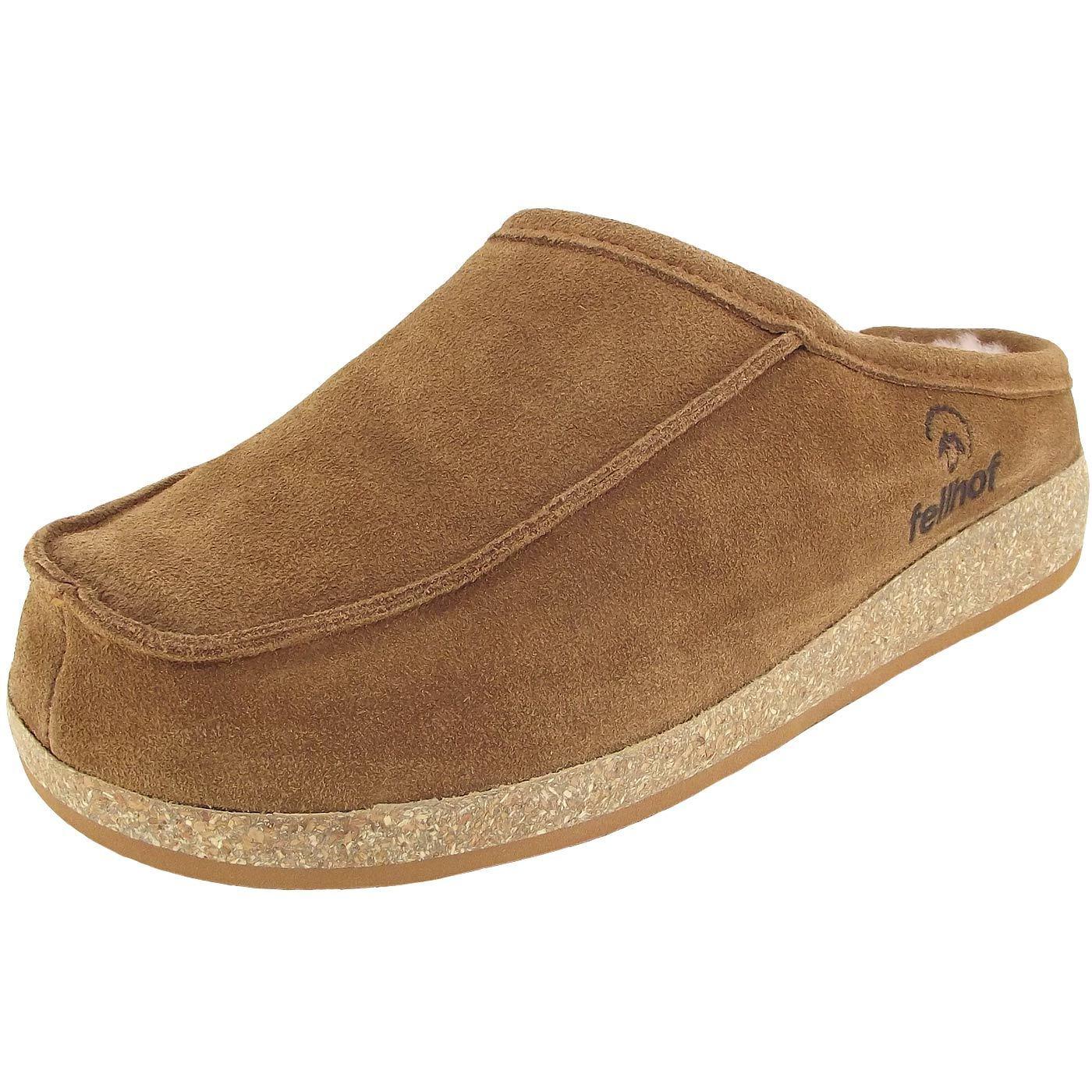 Billig hohe Qualität Fellhof Tappo Unisex Lammfell-Pantoffeln braun