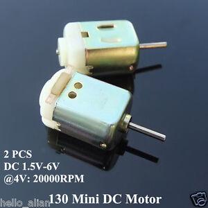 2pcs mini electric 130 motor dc1 5v 6v 4v 20000rpm high for Facts about electric motors