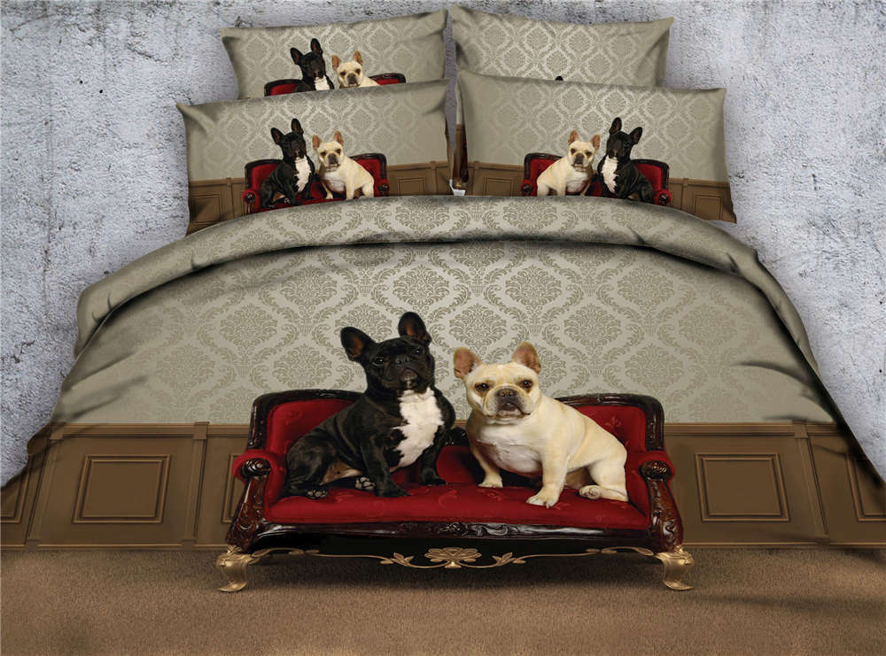 Dog Lleather Couch 3D Printing Duvet Quilt Doona Covers Pillow Case Bedding Sets