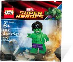 LEGO-SUPER-HEROES-HULK-MINIFIGURE-POLYBAG-5000022-RETIRED-NEW-LA019