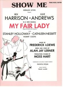 """montre-moi"" Sheet Music-my Fair Lady-piano/vocal Edition-julie Andrews - 1956-new!!!-al Edition-julie Andrews-1956-new!!"" Data-mtsrclang=""fr-fr"" Href=""#"" Onclick=""return False;"">afficher Le Titre D'origine Imrkxrcm-07162921-105042062"