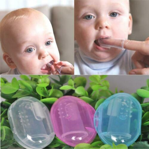 Baby Kid Infant Soft Silicone Finger Toothbrush Teeth Gum Massager Toothbrush LS