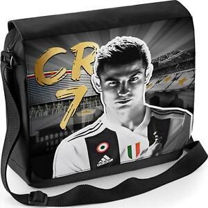 1d90f6c0d3b7 Image is loading Ronaldo-Messenger-Bag-Juventus-School-CR7-Boys-Shoulder-