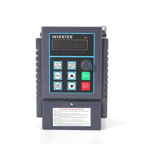750W 5A Frequenzumrichter VFD 1 Phase Drehzahlregler Inverter Motor Sale!