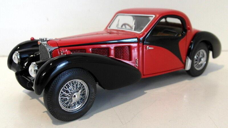 Franklin MINT SCALA 1 24 pressofusione-FMC20 1936 BUGATTI TIPO 57SC Rosso   Nero