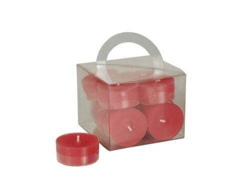 96 Teelichter Ø 38 mm 18mm rot red in Polycarbonathülle durchgefärbt 10469