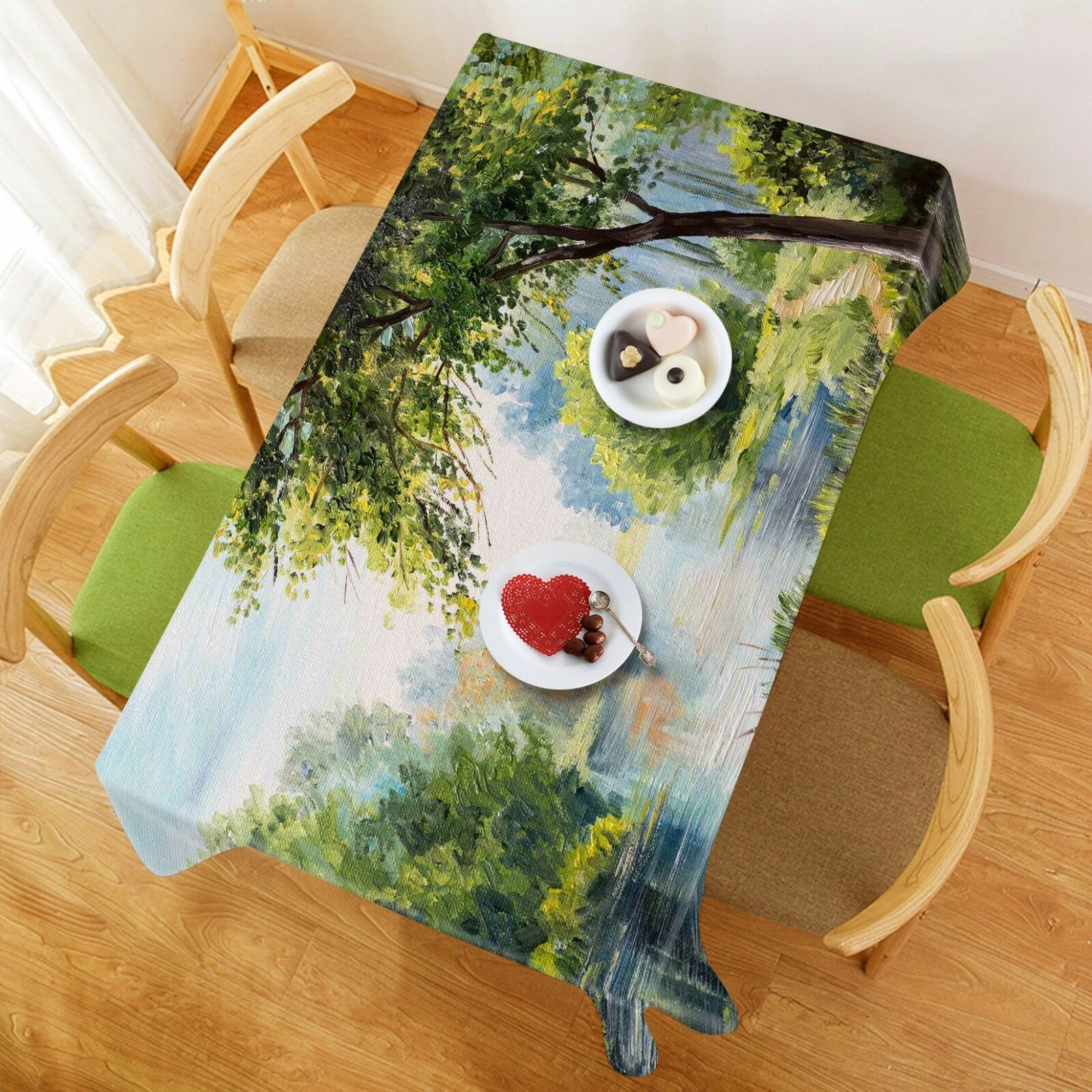 3D Tree River 431 Tablecloth Table Cover Cloth Birthday Party Event AJ WALLPAPER