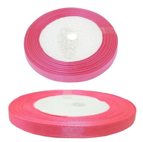 doble banda satén 6mm banda bucles banda regalo dekoband 20m rosa Best c207
