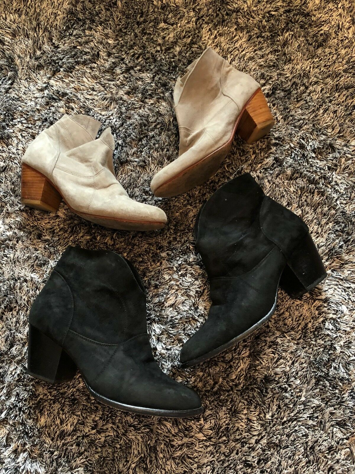 WORN - 2NDSKIN SUEDE LEATHER BOOTS - BOUTIQUE - 7 40