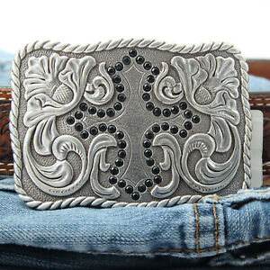 Silver-Colored-Western-Belt-Buckle-Cross-Gift-For-Cowgirl