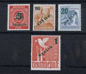 Berlin-Gruenaufdruck-Mi-Nr-64-bis-67-postfrisch-komplett