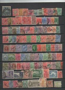 Tres-bon-lot-de-135-timbres-Royaume-Uni-colonies-diverses