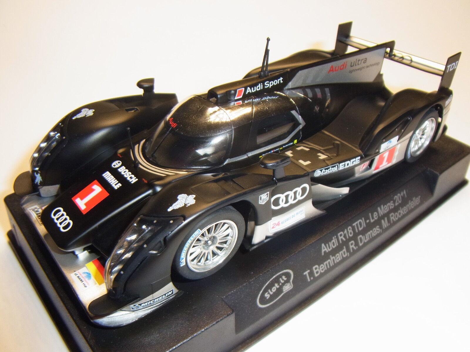 Slot  Audi R18 Le Mans 2011  1 für Autorennbahn 1 32