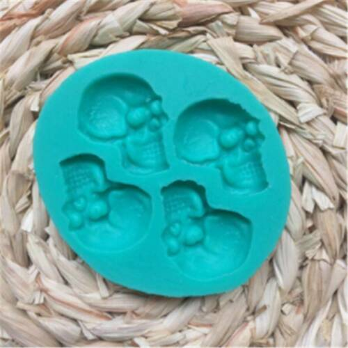 Skull Head Silicone Fondant Cake Moulds Chocolate  Party Halloween Baking Mold S