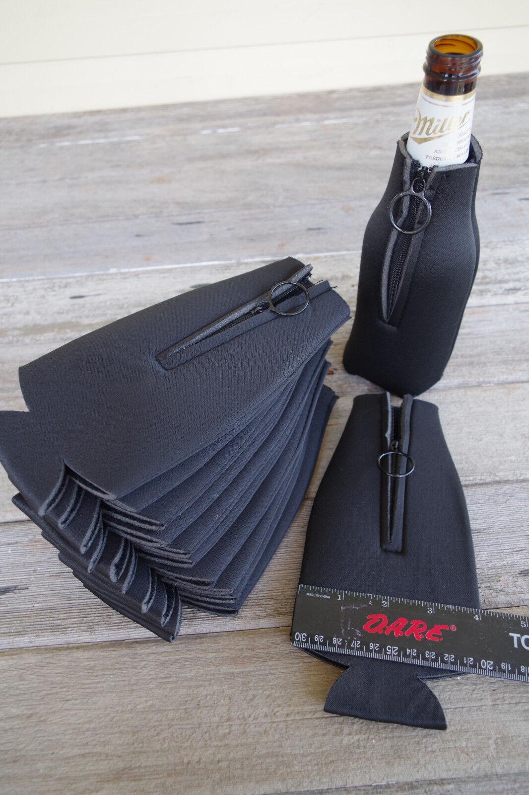 Blank Foam Can /& Bottle Coolers Zipper Beer Bottle Coolies Koozies 5 Pack #7