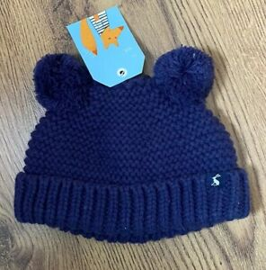 Joules-BabyPomb-Baby-Boys-Girls-Warm-Hat-Winter-Navy-0-6-Months