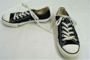 Converse-ALL-STAR-LACCI-Scarpe-in-Tela-Nero-Taglia-5-UK-EU-37-5-Tamigi-Ospizio