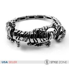 Fashion Jewelry Men's Stainless Steel Gothic Tiger Head & Full Body Bracelet B64