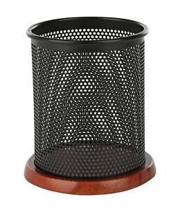 Klearex-black-mesh-pen-amp-pencil-holder-office-supply-cup-desk-accessory