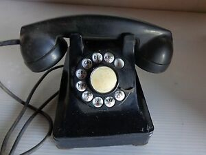 "VINTAGE BLACK HAND DIAL TELEPHONE BELL SYSTEM ""T910"""
