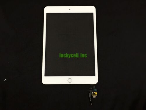 White Adhesived Digitizer Screen With IC Chip Home Button Flex for iPad Mini 3