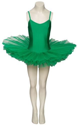 Damas Niñas Tutú De Disfraz De Danza Ballet Verde Esmeralda Traje Todas Las Tallas Por Katz