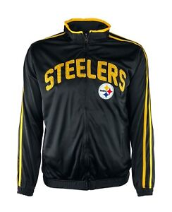 0cfc12b65 Image is loading Pittsburgh-Steelers-Ron-Style-Embroidered-Full-Zip-Track-