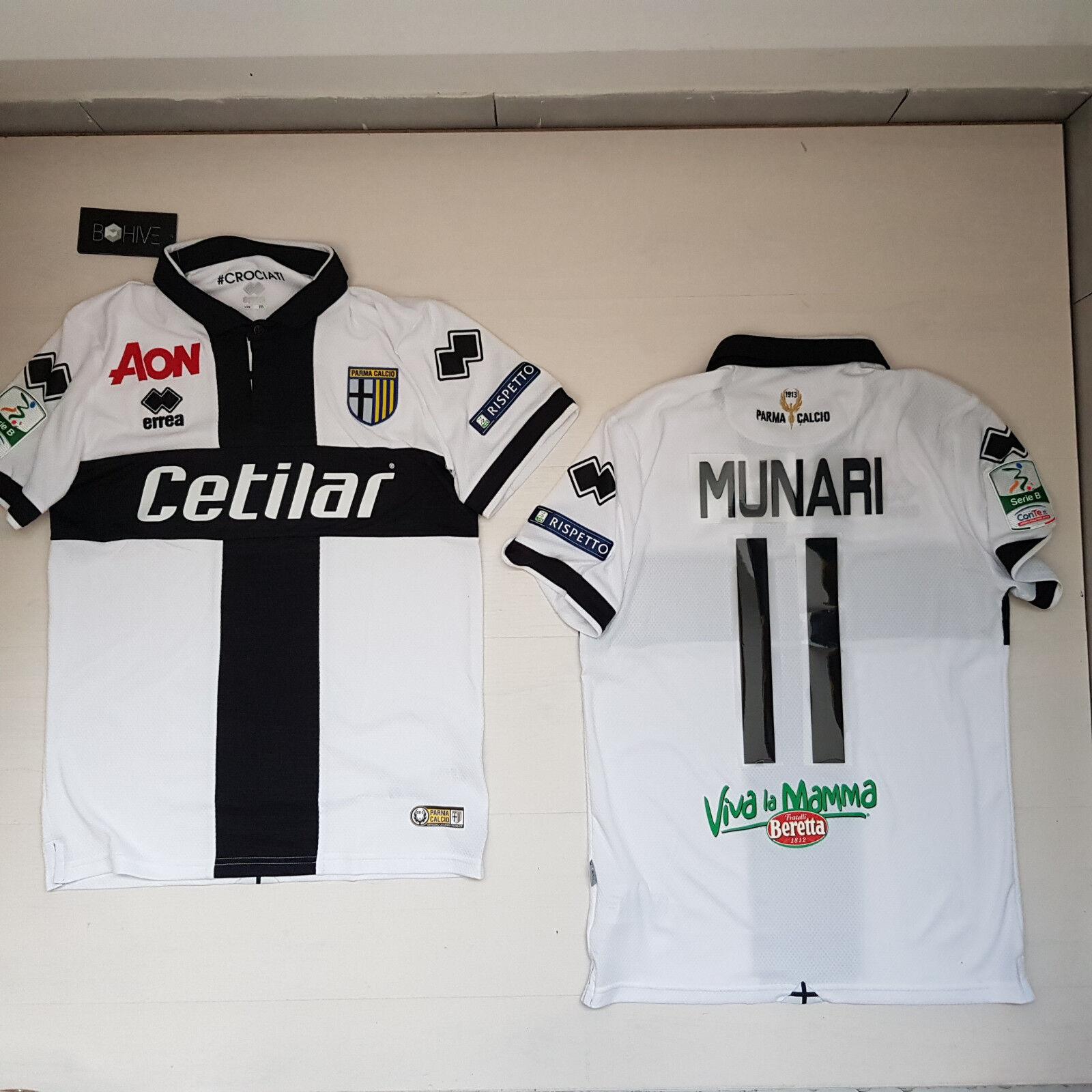 2017 Errea Parma T-Shirt Munari 11 Series B Match Shirt Jersey