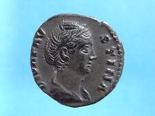 Toned Roman AR Denarius Of Faustina Senior. R: Aeternity Holding A Globe  (C333)