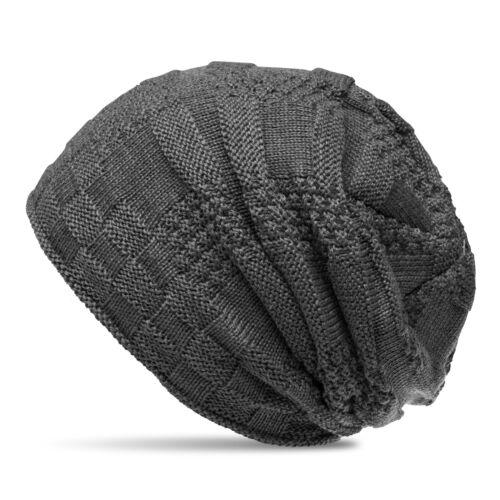 CASPAR MU155 Damen Herren Beanie Winter Mütze warm gefüttert mit Flecht Muster
