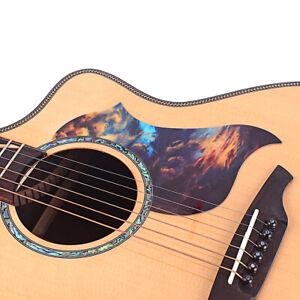 1Pc Celluloid Pickguard Scratch Plate Pick Guard For Acoustic Guitar Black