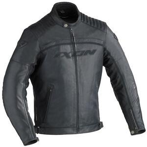 Blouson-CUIR-jacket-Homme-IXON-PISTON-NOIR-Taille-M-Streetmotorbike