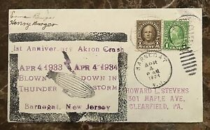 ZRS-4-USS-AKRON-DISASTER-COMMEMORATIVE-COVER-w-WOOD-BLOCK-CACHET-APRIL-4-1934