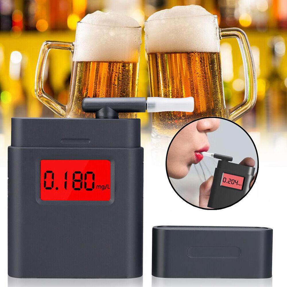 DI- KF_ Drive Safe Digital Breath Alcohol Tester Detector Portable Handheld Brea