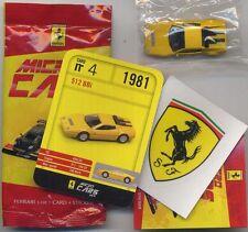 Micro Cars 2013 FERRARI 512 BBi #04 card+sticker+bag+bpz 1/100 Kyosho MIB