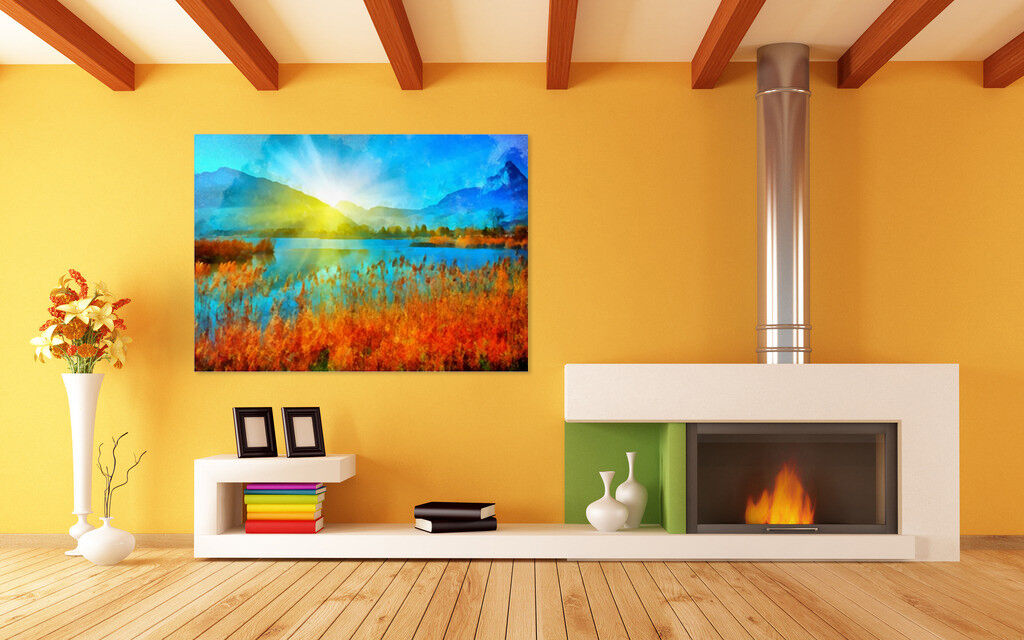 3D Blauer Himmel, Stroh 635 Fototapeten Wandbild BildTapete AJSTORE DE Lemon