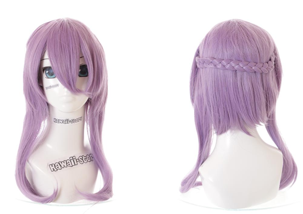 100% Vrai Cs-245c Shinoa Hiragi Séraphin De The End Violet 45cm Anime Perruque Cosplay Pour Assurer Une Transmission En Douceur